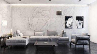 7 mẫu gạch ốp tường phòng khách đẹp đầy thu hút