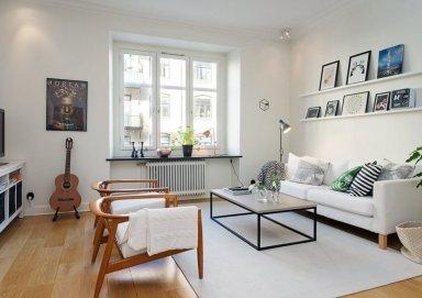 Cuốn hút với mẫu phòng khách đẹp phong cách Scandinavian