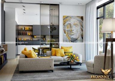 Mẫu thiết kế phòng khách chung cư cao cấp hiện đại PKHD11