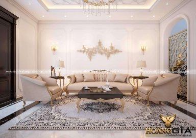 Vẻ đẹp thanh lịch của mẫu nội thất phòng khách tân cổ điển