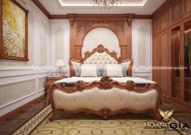 Mẫu thiết kế nội thất phòng ngủ phong cách tân cổ điển TCĐ 43