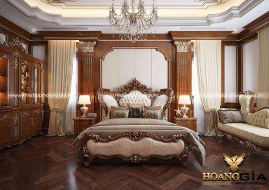 Nét sang trọng trong mẫu phòng ngủ tân cổ điển Luxury cho nhà biệt thự