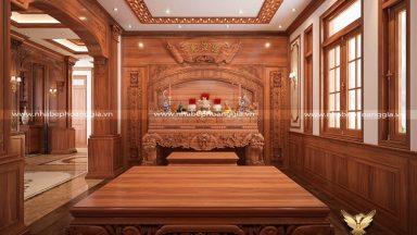 Top 10 mẫu phòng thờ biệt thự đẹp hợp phong thủy
