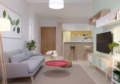 Mẫu thiết kế nội thất chung cư 55m2 đẹp phong cách hiện đại