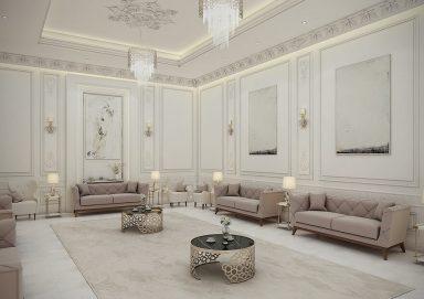 Mẫu thiết kế nội thất tân cổ điển cho biệt thự rộng