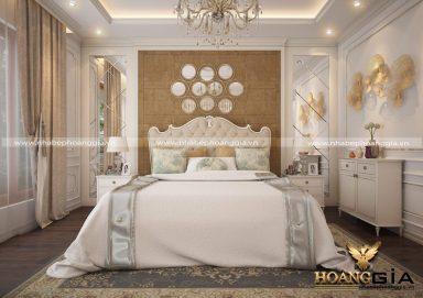 Mẫu thiết kế nội thất phòng ngủ đẹp tân cổ điển TCĐ 32