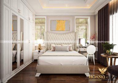 Mẫu nội thất phòng ngủ đẹp với phong cách tân cổ điển TCĐ 34