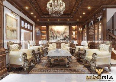 Mẫu thiết kế nội thất tân cổ điển cho biệt thự song lập sang trọng