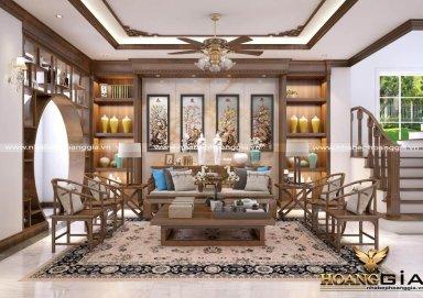 Nội thất phòng khách phong cách Trung Hoa đầy thanh lịch và cuốn hút