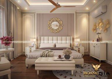 Mẫu thiết kế nội thất phòng ngủ tân cổ điển TCĐ 35