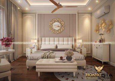 Mẫu thiết kế phòng ngủ đẹp tân cổ điển TCĐ 35