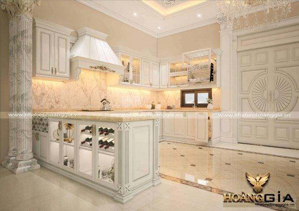 Dự án thiết kế tủ bếp tân cổ điển nhà chị Hồng (Phủ Lý, Hà Nam)