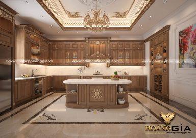 Khám phá mẫu tủ bếp đẹp dát vàng sang trọng