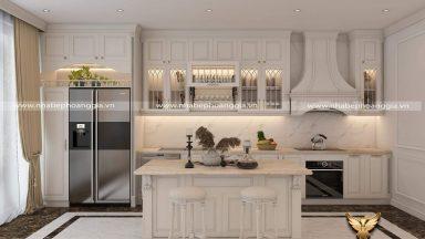Top 15 mẫu tủ bếp có bàn đảo đẹp tiện nghi đầy sang trọng