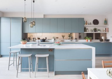 Làm mới không gian nấu nướng với mẫu tủ bếp màu pastel đầy thu hút