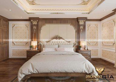 Mẫu thiết kế nội thất phòng ngủ tân cổ điển sang trọng đầy lịch lãm