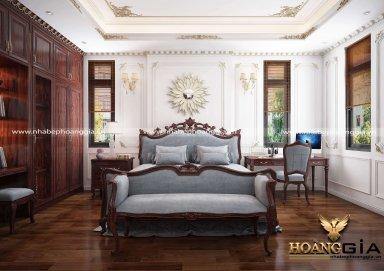 Mẫu nội thất tân cổ điển cho phòng ngủ con trai nhà anh Cảnh