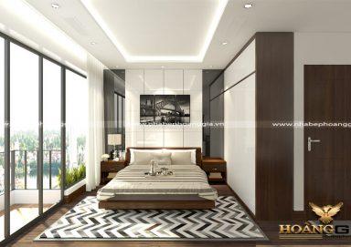 Mẫu thiết kế phòng ngủ chung cư hiện đại PNHD 08