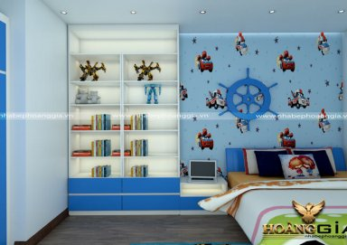 Mẫu thiết kế phòng ngủ con trai hiện đại PNHD 09