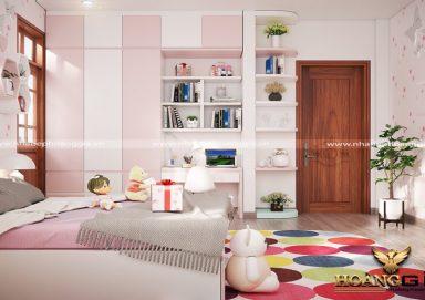 Mẫu thiết kế phòng ngủ con gái hiện đại PNHD 10