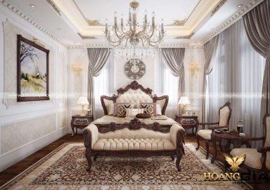Không gian nội thất phòng ngủ master nhà anh Cảnh