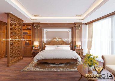 Đẳng cấp với mẫu nội thất phòng ngủ gỗ gõ đỏ cao cấp