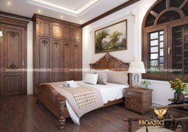 Mẫu thiết kế phòng ngủ nội thất tân cổ điển TCĐ 36