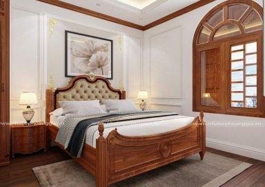 Mẫu thiết kế nội thất phòng ngủ đẹp tân cổ điển TCĐ 37