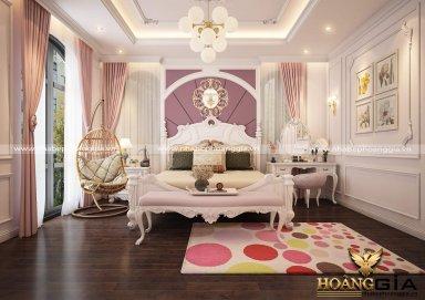 Mẫu thiết kế nội thất phòng ngủ tân cổ điển TCĐ 39