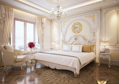 Mẫu thiết kế nội thất phòng ngủ tân cổ điển TCĐ 41