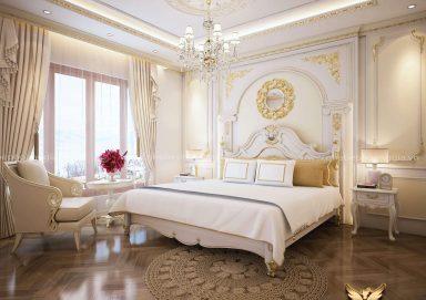 Mẫu thiết kế phòng ngủ đẹp tân cổ điển TCĐ 41