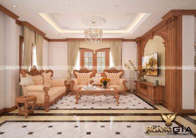 Sang trọng với thiết kế nội thất phong cách tân cổ điển gỗ gõ tinh tế