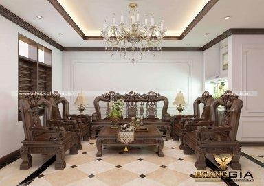 Mẫu nội thất tân cổ điển gỗ tự nhiên lịch lãm đầy sang trọng