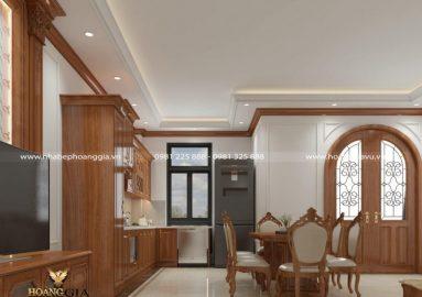 Dự án thiết kế nội thất bếp ăn tân cổ điển nhà chú Tráng (Hà Nội)