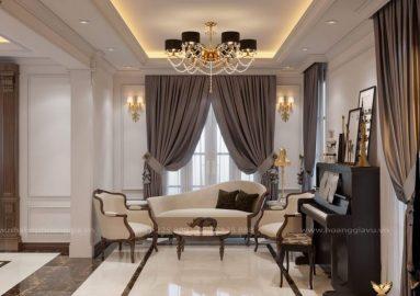 Dự án thiết kế nội thất tân cổ điển nhà chị Thủy (Cầu Giấy, Hà Nội)