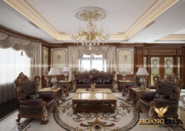 Sang trọng đầy đẳng cấp với các mẫu phòng khách đẹp cổ điển