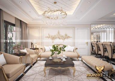 Dự án thiết kế nội thất chung cư Nhà Chị Nguyệt Hải Phòng