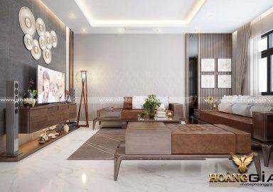 Mẫu nội thất phòng khách đẹp hiện đại nhất cho không gian biệt thự