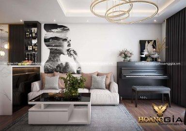 Mẫu thiết kế phòng khách đẹp phong cách hiện đại