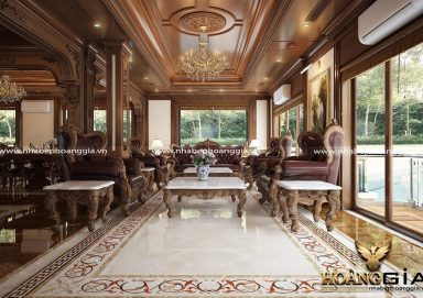 Mẫu thiết kế nội thất tân cổ điển cho biệt thự nhà anh Ngọc (Phú Diễn, Hà Nội)