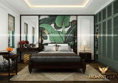 Mẫu phòng ngủ đẹp phong cách Indochine đầy thu hút