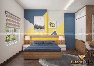 Mẫu thiết kế phòng ngủ con trai năng động cho nhà chung cư