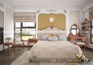 Mẫu thiết kế nội thất phòng ngủ phong cách tân cổ điển nhà chung cư Ecopark, Hà Nội