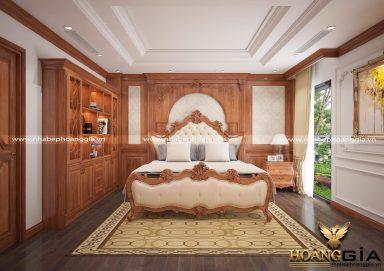 Mẫu thiết kế phòng ngủ sang trọng theo phong cách tân cổ điển