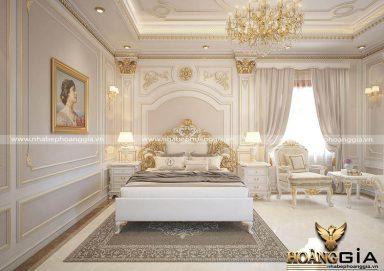 Cuốn hút với mẫu thiết kế phòng ngủ tân cổ điển cao cấp sang trọng