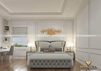 Gợi ý thiết kế phòng ngủ tân cổ điển cho con trai chị Chi (Bắc Giang)