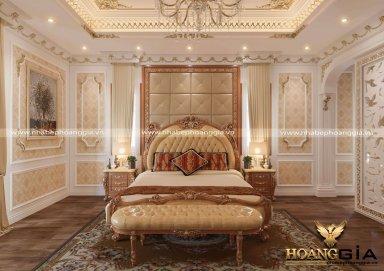 Không gian nội thất tân cổ điển cho phòng ngủ nhà biệt thự
