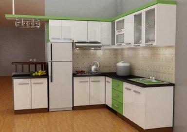 Mẫu tủ bếp gỗ Lamilate 09