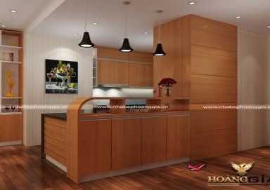 Mẫu tủ bếp gỗ Lamilate 05