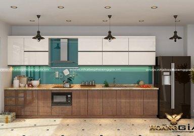Mẫu tủ bếp gỗ Lamilate 06